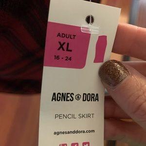 Agnes & Dora Skirts - Pencil Skirt - Red Plaid